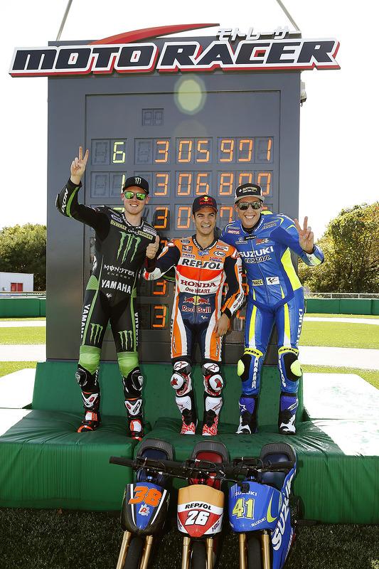 Mini bike challenge: переможець Дані Педроса, Repsol Honda Team, друге місце Бредлі Сміт, Monster Yamaha Tech 3, третє місце Алеїч Еспаргаро, Team Suzuki MotoGP