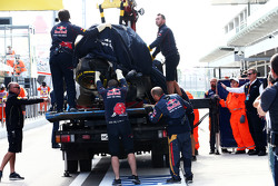 El Toro Rosso accidentado de Carlos Sainz
