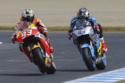 Marc Márquez, Repsol Honda Team y Scott Redding, Marc VDS Racing Team Honda