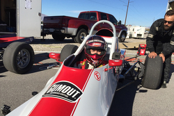 Leah Pritchett tests a Formula Ford