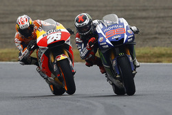 Jorge Lorenzo, Yamaha Factory Racing and Dani Pedrosa, Repsol Honda Team