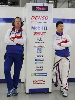 Kazuki Nakajima, Toyota Racing and Rob Leupen, Director Business Operations Toyota en