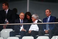 Vladimir Putin, president Rusland met Bernie Ecclestone,