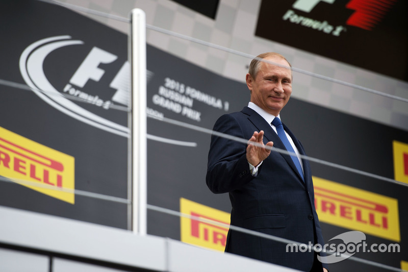 Vladimir Putin, Russian Federation President on the podium