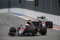Jenson Button en Fernando Alonso, McLaren