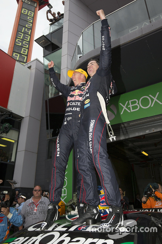 Race winners Craig Lowndes and Steven Richards, Triple Eight Race Engineering Holden