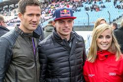 Sebastien Ogier, Julien Ingrassia, Volkswagen Motorsport e Max Verstappen , Scuderia Toro Rosso con la sua fidanzata Mikaela Ahlin-Kottulinsky ,