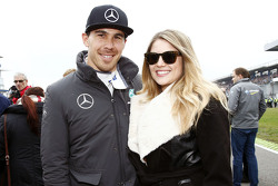 Robert Wickens, HWA AG Mercedes-AMG C63 DTM with Karli Woods