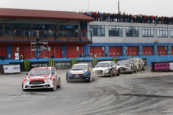 Andreas Bakkerud, Olsbergs MSE Ford Fiesta ST; Johan Kristoffersson, Volkswagen Team Sweden; Anton M