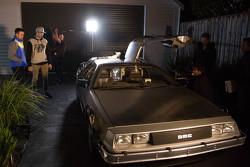 Mark Winterbottom, dan Chaz Mostert bersama the DeLorean