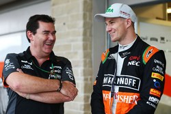 (L to R): Steve Curnow, Sahara Force India F1 Team Commercial Director with Nico Hulkenberg, Sahara Force India F2