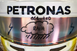 Lewis Hamilton, Mercedes AMG F1 detalle del visor
