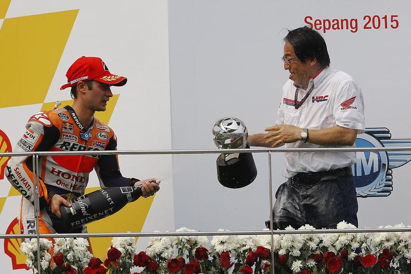 Podium: winner Dani Pedrosa, Repsol Honda Team