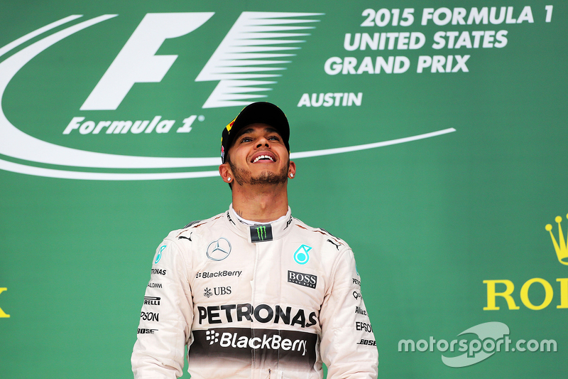Podium: Race winner and World Champion Lewis Hamilton, Mercedes AMG F1 Team