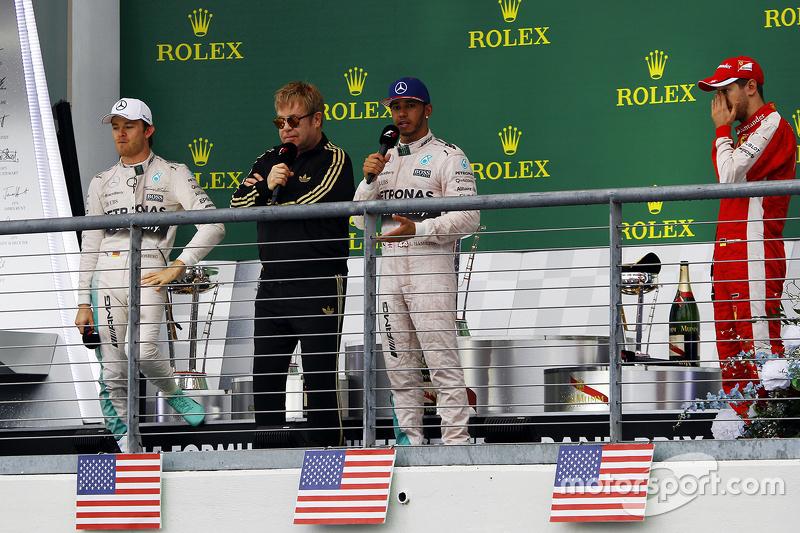 Podio del Gran Premio de Estados Unidos 2015
