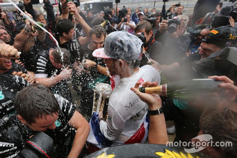 Lewis Hamilton, Mercedes AMG F1 Team celebrates his third world champion title