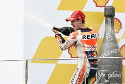 Подіум: переможець гонки Дані Педроса, Repsol Honda Team