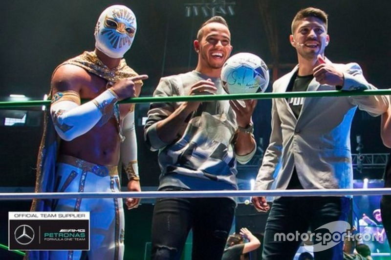Mistico, luchador, Lewis Hamilton y Oribe Peralta, jugador de futbol
