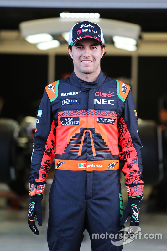 Sergio Perez, Sahara Force India F1 in speciale overall voor Mexico