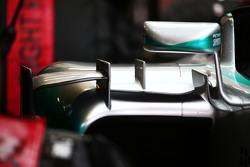 Mercedes AMG F1 W06 sidepod winglet detail