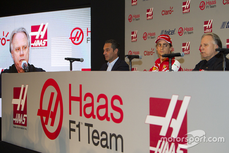 Carlos Slim, Presidente de América Móvil, Esteban Gutiérrez Haas F1 Team, Gene Haas Dueño del Equipo