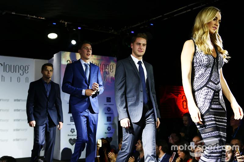 Carmen Jorda, Lotus F1 y Stoffel Vandoorne, McLaren en el Amber Lounge Fashion Show
