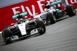 Nico Rosberg, Mercedes AMG F1 W06 voor Lewis Hamilton, Mercedes AMG F1 W06