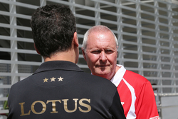 Federico Gastaldi, Lotus F1 Team  met John Booth, Manor Marussia F1 Team
