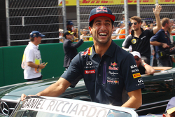 Daniel Ricciardo, Red Bull Racing on the drivers parade.