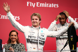 Podium: Race winner Nico Rosberg, Mercedes AMG F1 W06