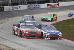 Michael Annett, HScott Motorsports Chevrolet and Trevor Bayne, Roush Fenway Racing Ford