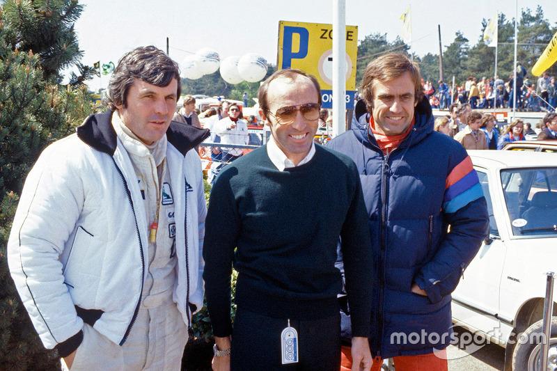 Frank Williams con Alan Jones y Carlos Reutemann, Williams