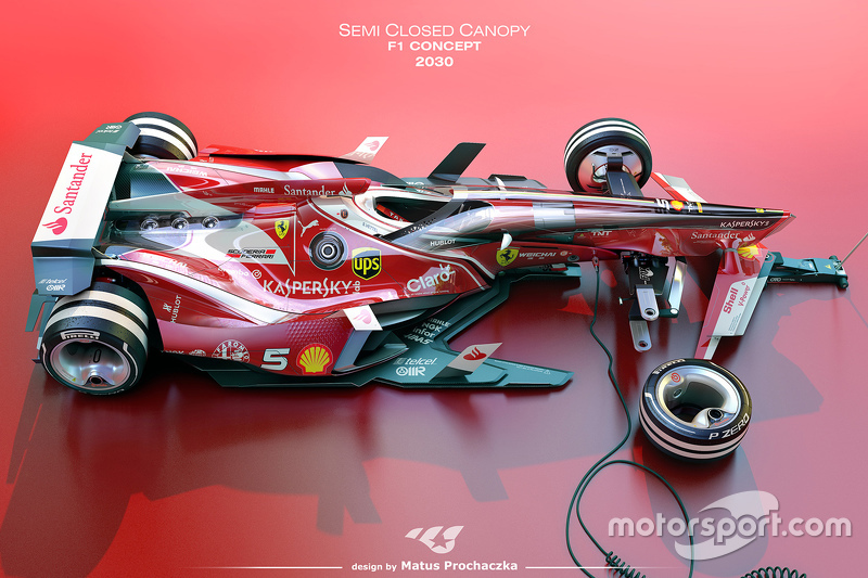 a possible future semi closed canopy design for formula 1 - Open Canopy 2015