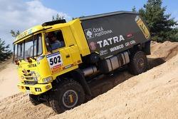 Loprais Tatra Team testing in Slovakia: Ales Loprais, Milan Holan, Ladislav Lala