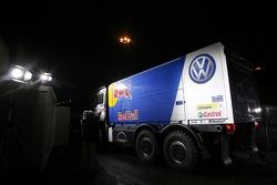 Volkswagen works team gets ready for scrutineering