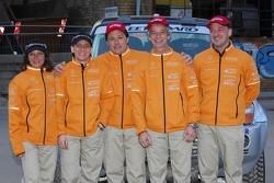 Team Fleetboard Dakar Leipzig presentation: Ellen Lohr and Antonia De Roissard, Stephan Schott and Holm Schmidt
