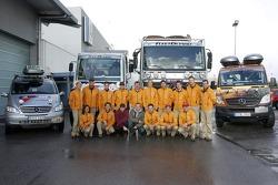 Team Fleetboard Dakar Leipzig presentation: Ellen Lohr and Antonia De Roissard, Stephan Schott and H