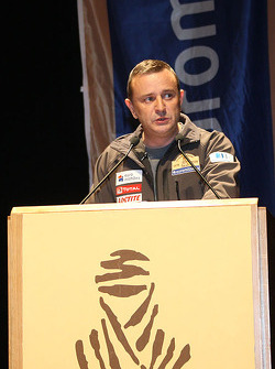 Dakar organiser Etienne Lavigne brings the bad news about the Dakar 2008 cancellation