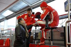 Jean Todt, Aldo Costa and Kimi Raikkonen