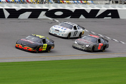 Marcos Ambrose, Erik Darnell and Kelly Bires