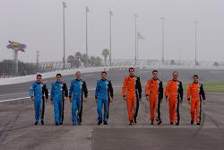 Michael Shank Racing photoshoot: Oswaldo Negri, Mark Patterson, Graham Rahal, Justin Wilson, A.J. Allmendinger, Burt Frisselle, Ian James, John Pew