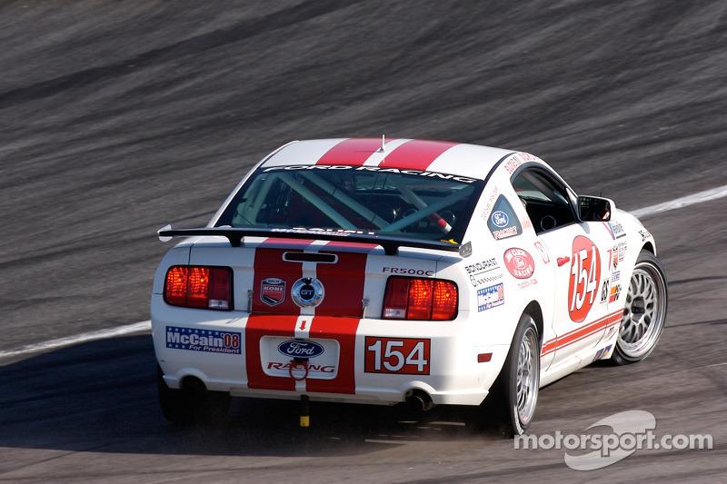 #154 Jim Click Racing Ford Mustang GT: Jim Click, Mike McGovern spins