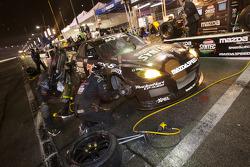Pitstop for #70 SpeedSource Mazda RX-8: Nick Ham, David Haskell, Raphael Matos, Sylvain Tremblay