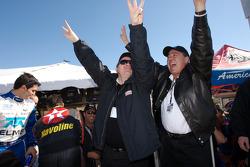 Chip Ganassi and Felix Sabates celebrate win