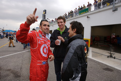 Dario Franchitti, Oliver Gavin and Stéphane Ortelli
