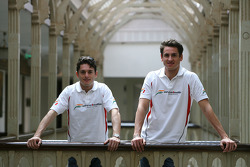 Adrian Sutil and Giancarlo Fisichella