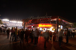 Pre-race ambiance at the Budweiser Bistro