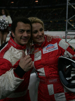 Franck Lagorce and Elodie Gossuin