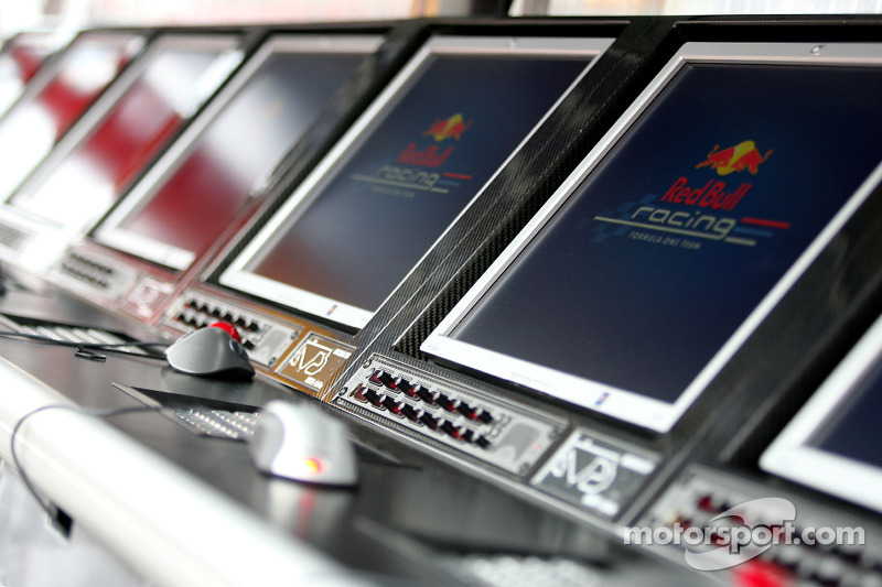 Red Bull Racing screens