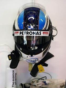 Helmet of Nick Heidfeld, BMW Sauber F1 Team, F1.08